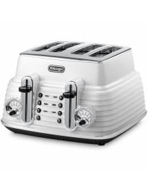 Delonghi - CTZ4003W - Grille pain 4 tranches